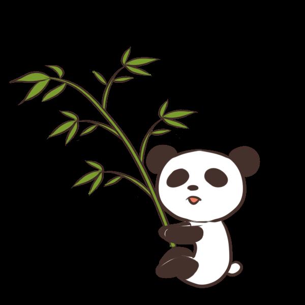 笹パンダのイラスト