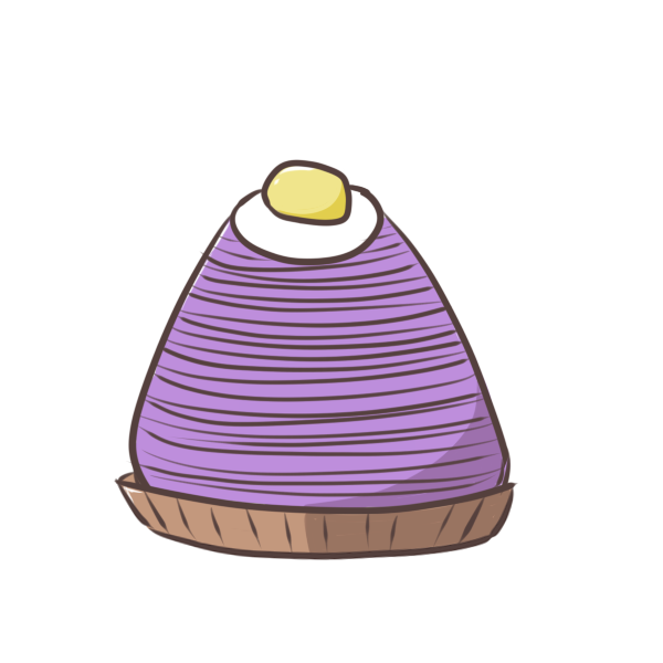 紫芋のモンブランのイラスト