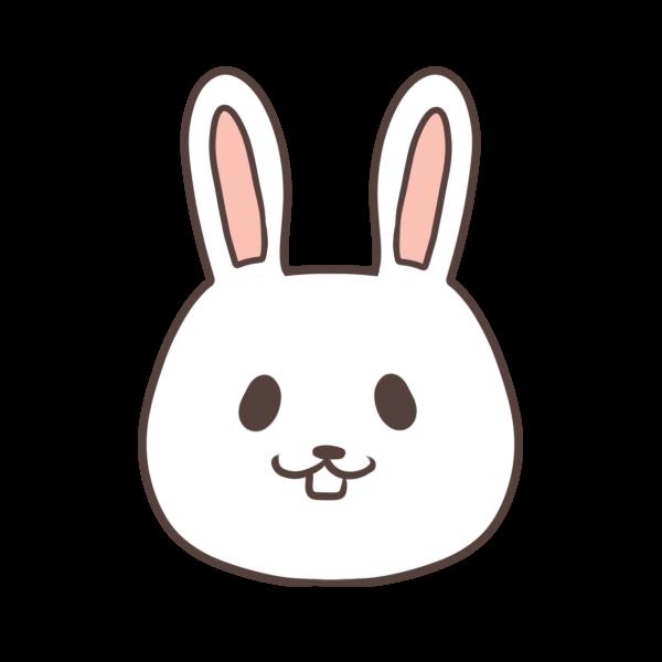 微笑むウサギのイラスト