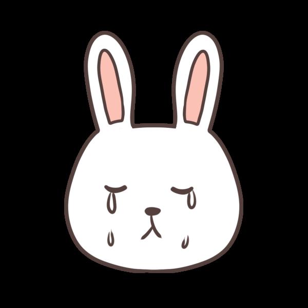 泣くウサギのイラスト