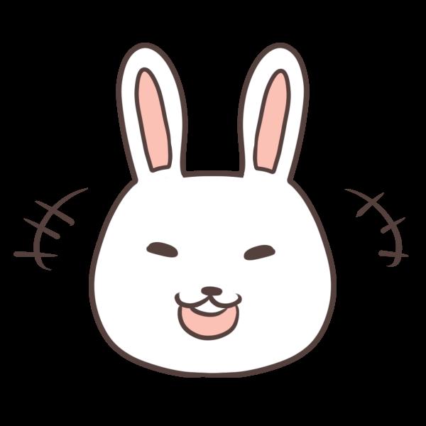 笑うウサギのイラスト