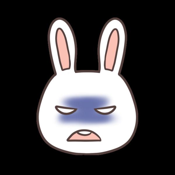 怒るウサギのイラスト