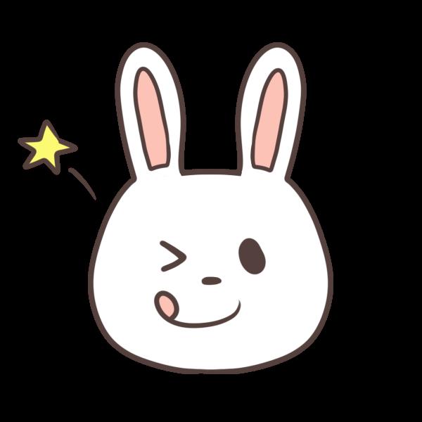ウインクするウサギのイラスト