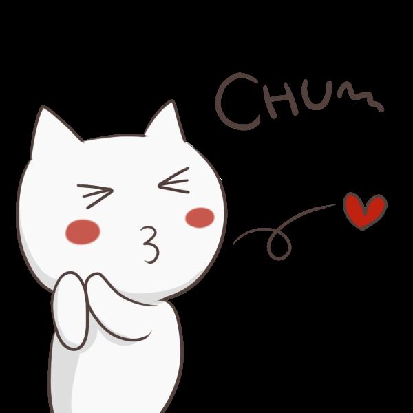 愛を飛ばす猫のイラスト