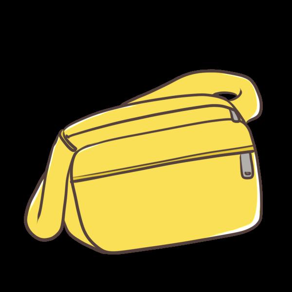 通園バッグ(黄色)のイラスト
