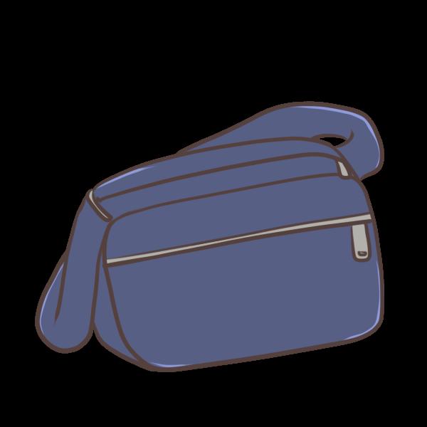 通園バッグ(紺色)のイラスト