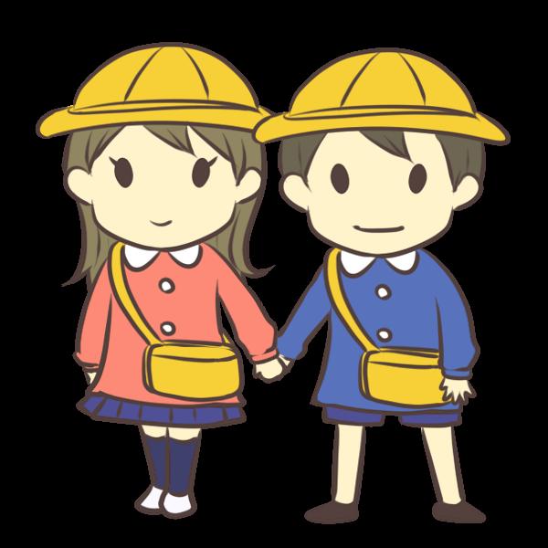 男の子と女の子のイラスト