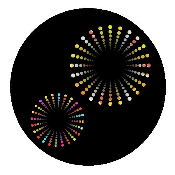 打ち上げ花火のイラスト