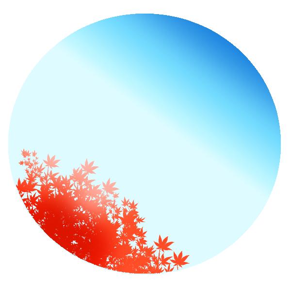 空と紅葉のイラスト