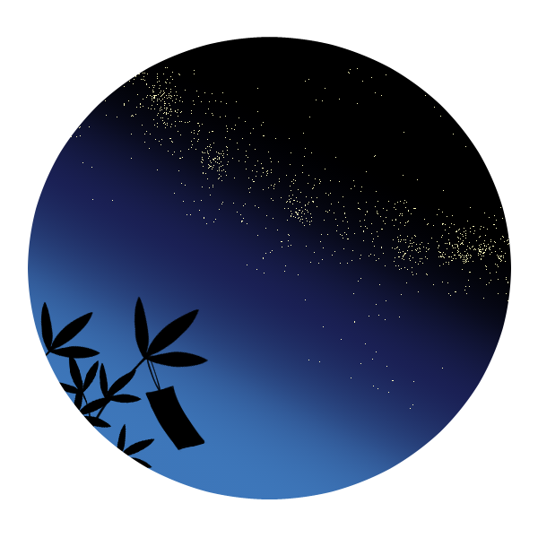 七夕の夜のイラスト