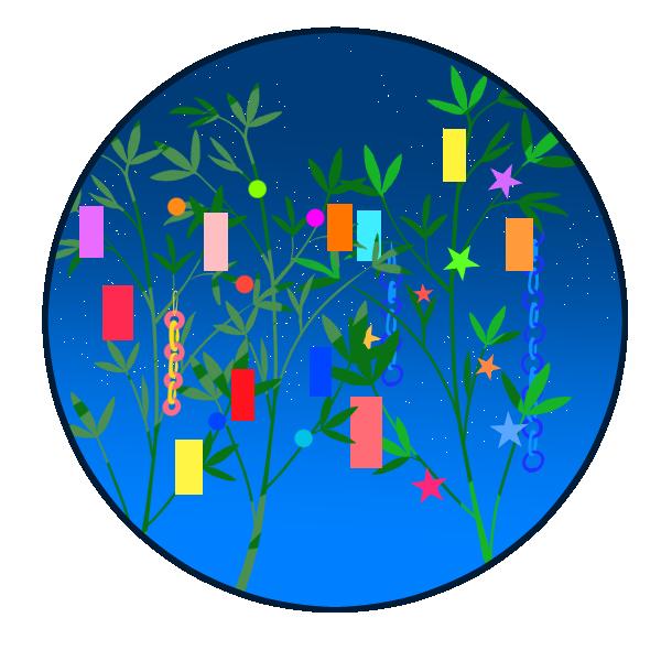 笹の飾りのイラスト