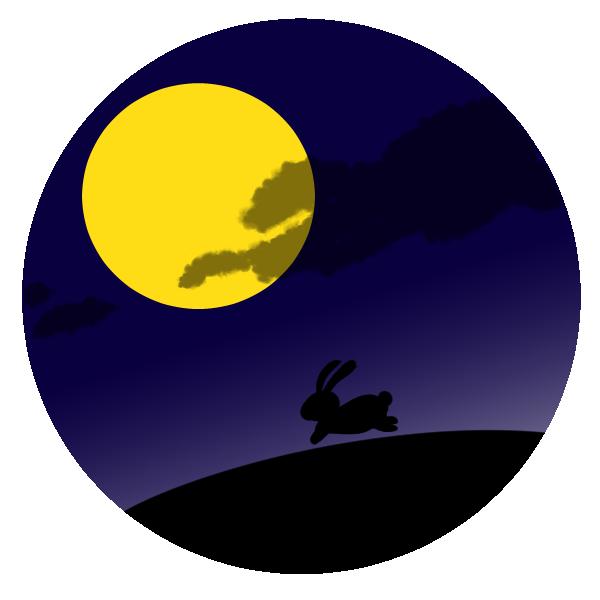 月とうさぎのイラスト