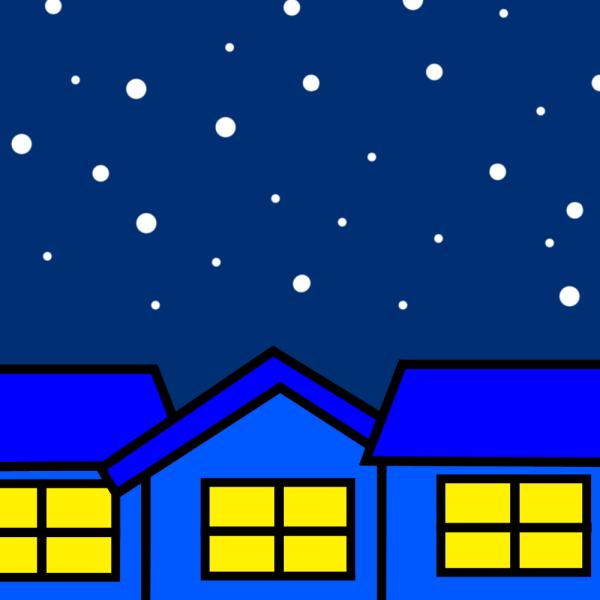 大晦日の夜のイラスト
