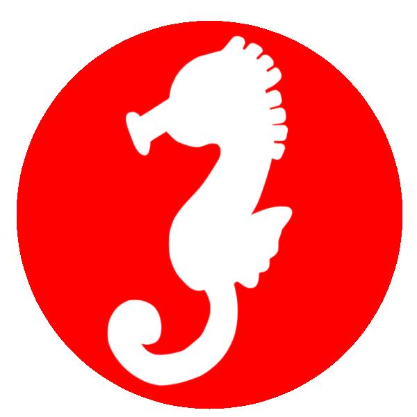干支「辰(竜の落とし子)」シルエットのイラスト