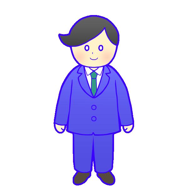 スーツの成人男性のイラスト