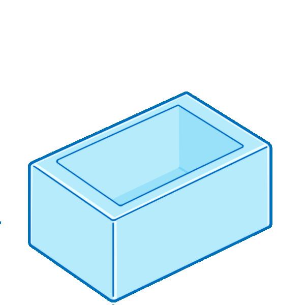 空のお風呂のイラスト
