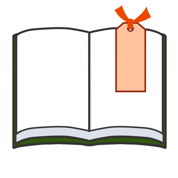 しおりと本のイラスト
