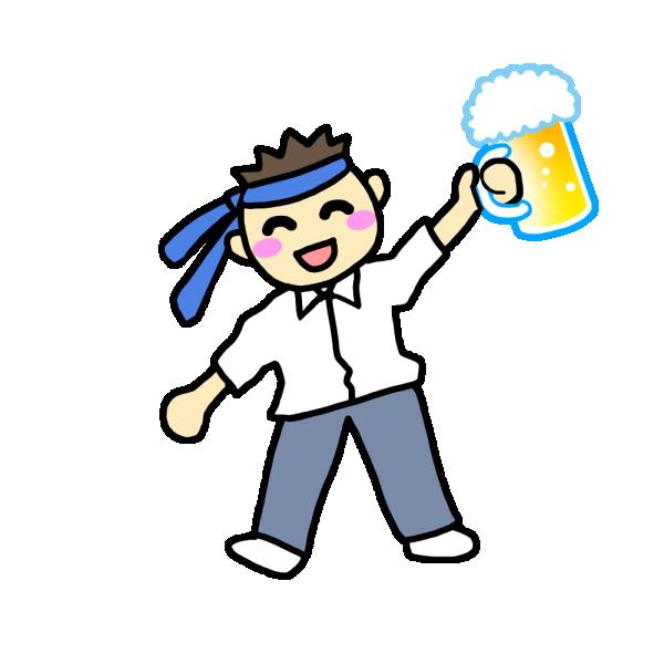 酔っぱらっている男性のイラスト