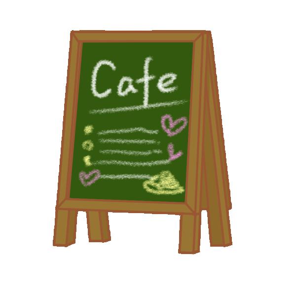 カフェの黒板ボードのイラスト