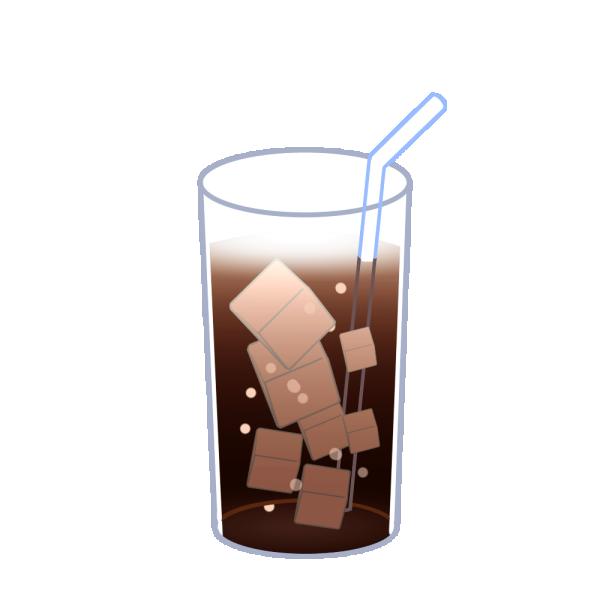 アイスコーヒーのイラスト