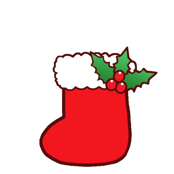 長靴(クリスマス)のイラスト