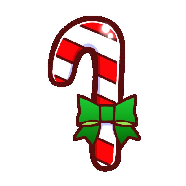クリスマスキャンディのイラスト