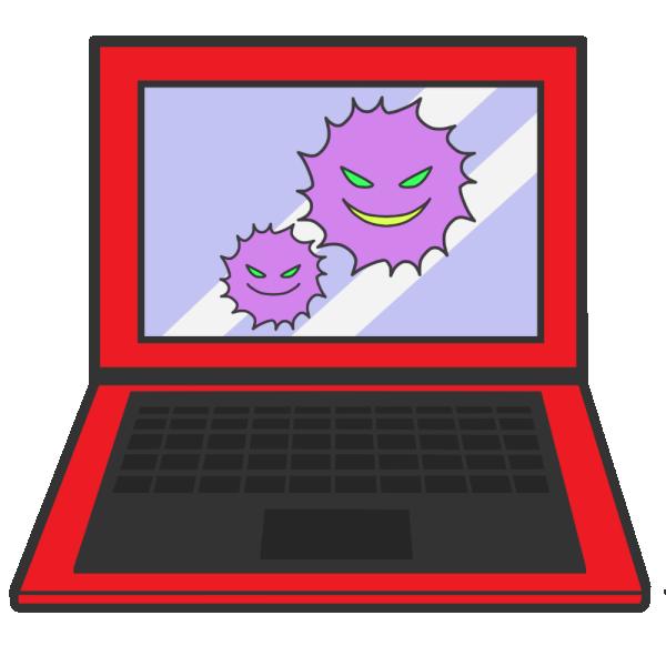コンピューターウィルスのイラスト