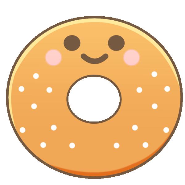 ドーナツのキャラクターのイラスト