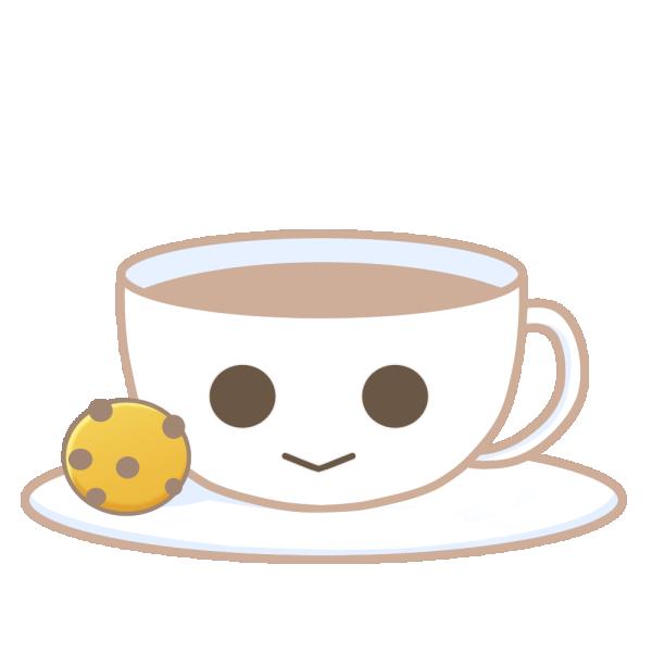 コーヒーとクッキーのイラスト