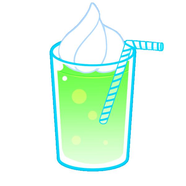 メロンジュースのイラスト
