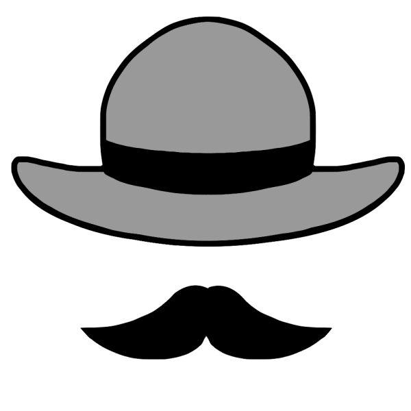 帽子とヒゲのイラスト