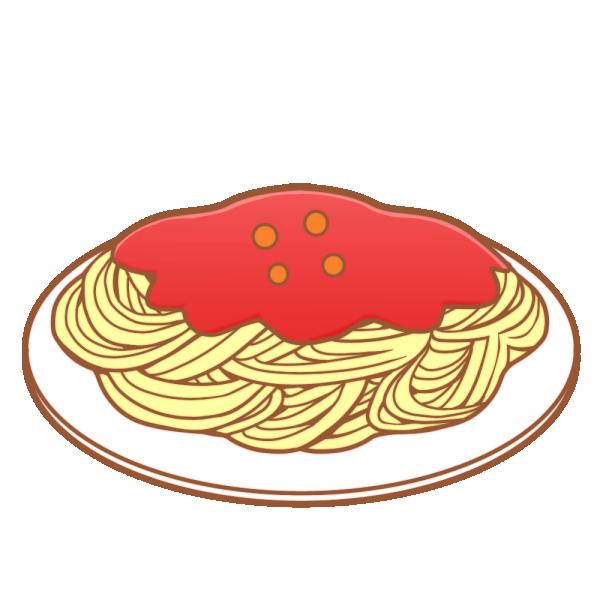 ミートソース・スパゲティのイラスト