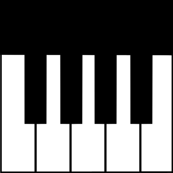 ピアノの鍵盤のイラスト