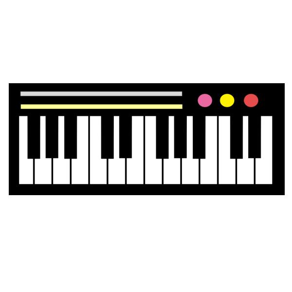 ピアノキーボードのイラスト