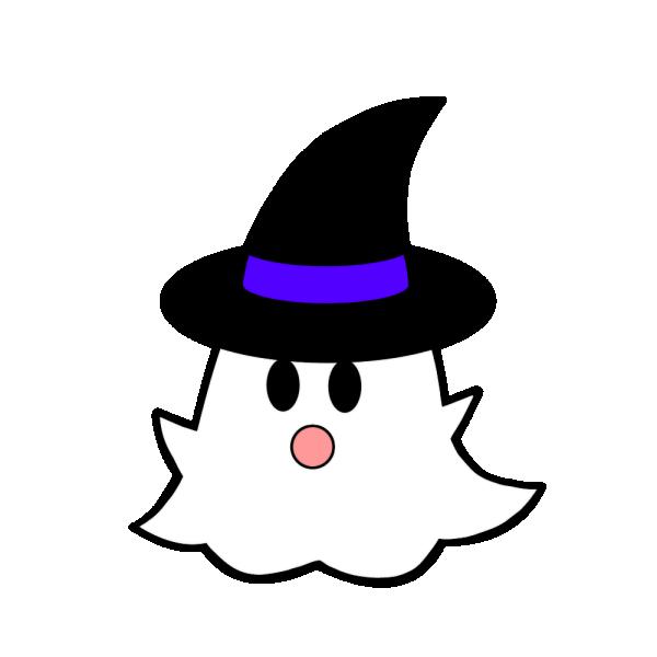 ハロウィンのおばけのイラスト