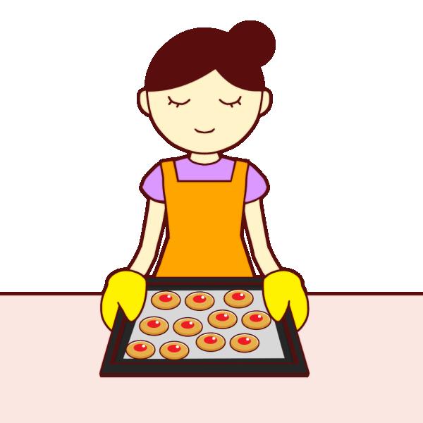お菓子作りのイラスト