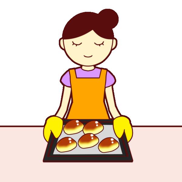 パン作りのイラスト