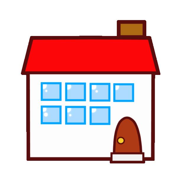 赤い屋根の家のイラスト かわいいフリー素材が無料のイラストレイン