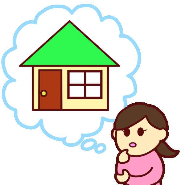 引っ越しを考える女性のイラスト