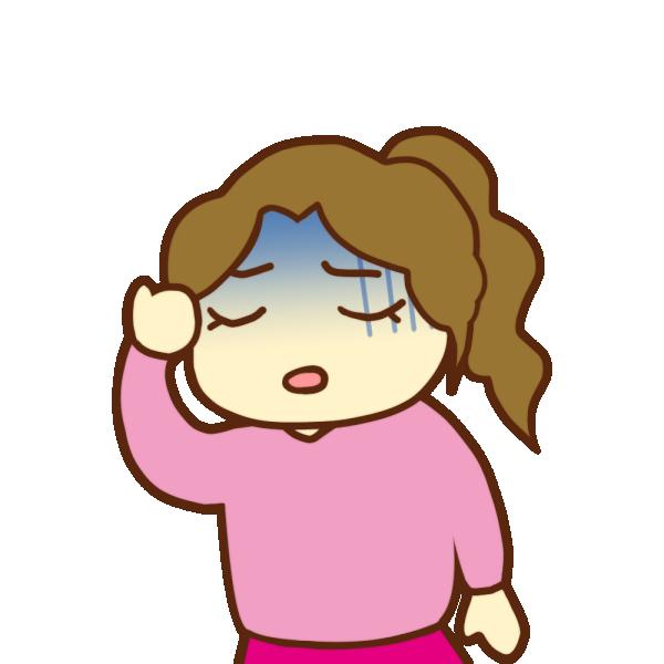 鬱っぽい女性のイラスト