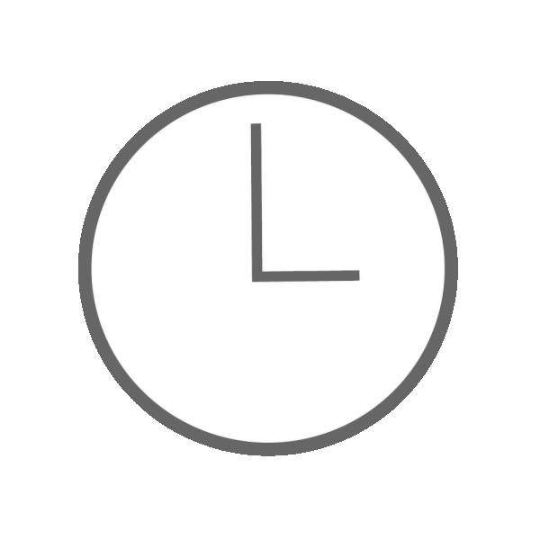 時計(3時)のイラスト