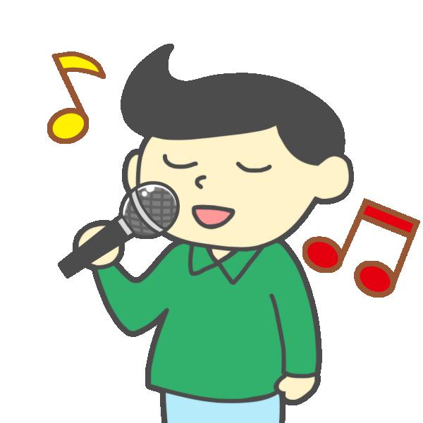 歌う男性のイラスト