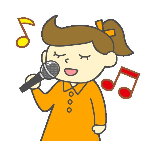 歌う女の子・女性のイラスト