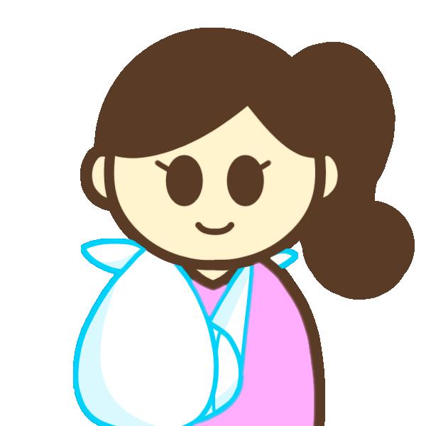 腕を骨折した女性のイラスト