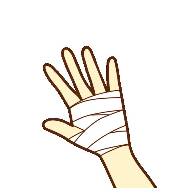 手の怪我のイラスト