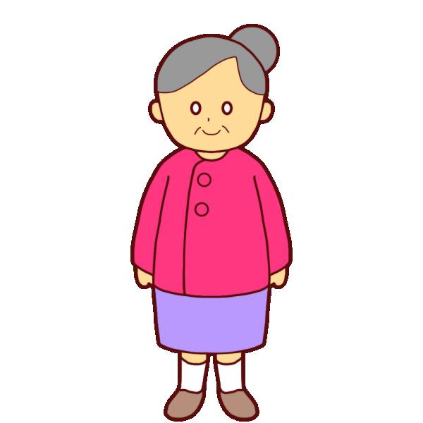おばあさんのイラスト