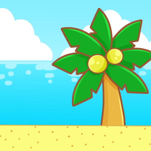 海・ビーチのイラスト
