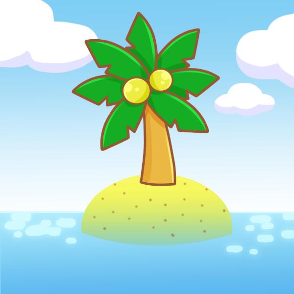 南国の島のイラスト