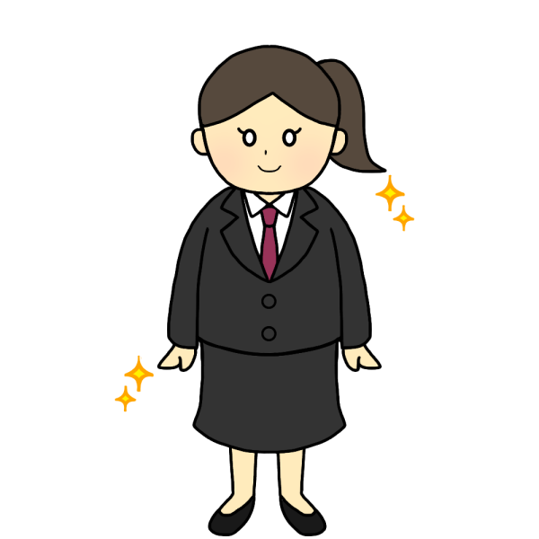 スーツの女性のイラスト