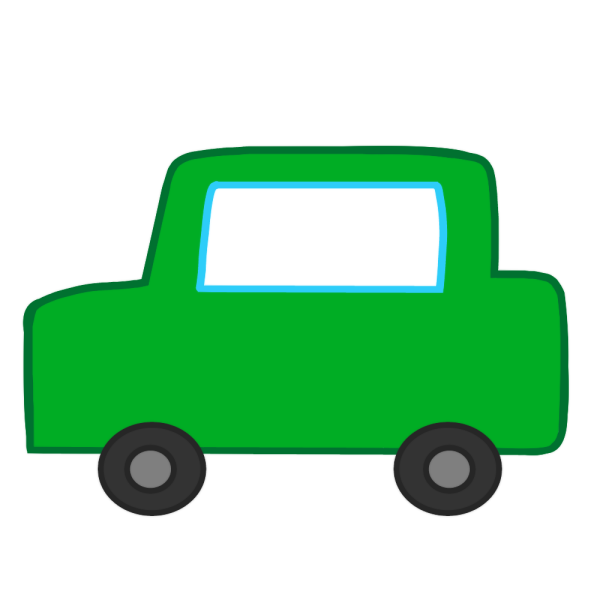 緑の車のイラスト
